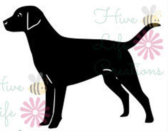 Labrador Retriever Instant Download Lab Dog Silhouette SVG