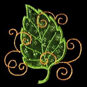 leafapp2 - Leaf Machine Applique Embroidery Design - $2.99 : Golden Needle Designs, Great machine embroidery designs