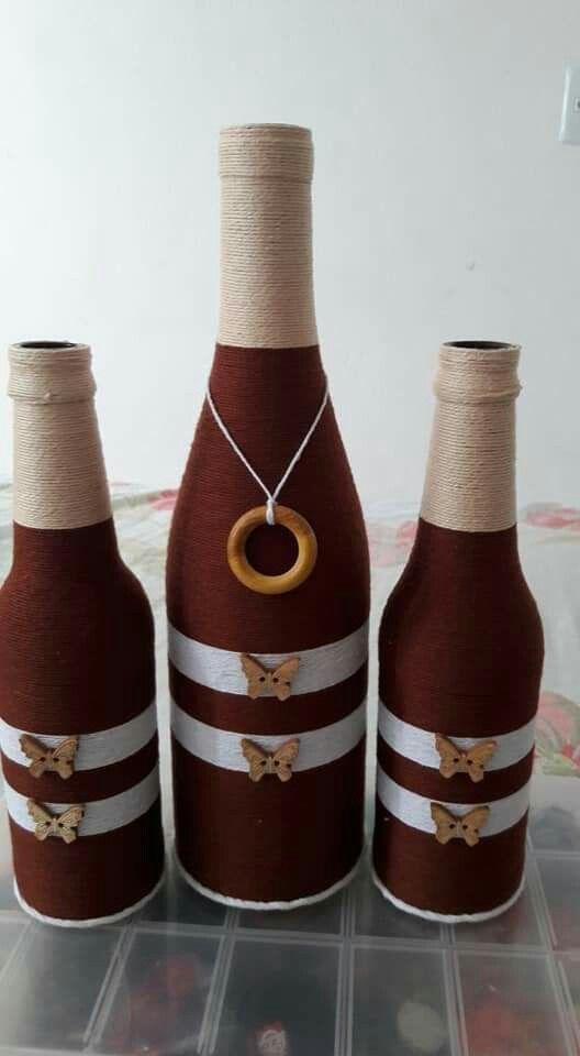 Bottle Crafts By Ty On Bottles Wine Bottle Diy Crafts Wine