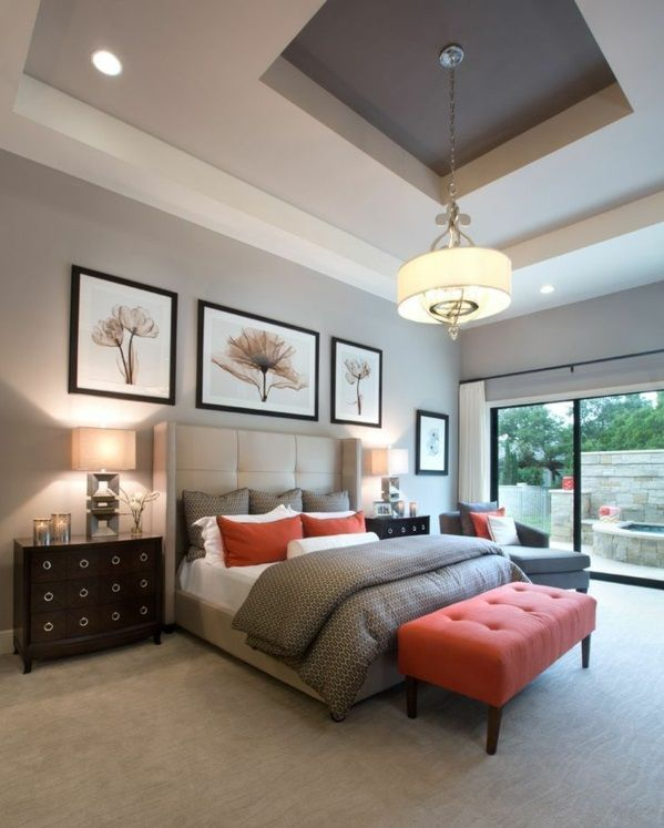 Lovely orange and Brown Bedroom Ideas