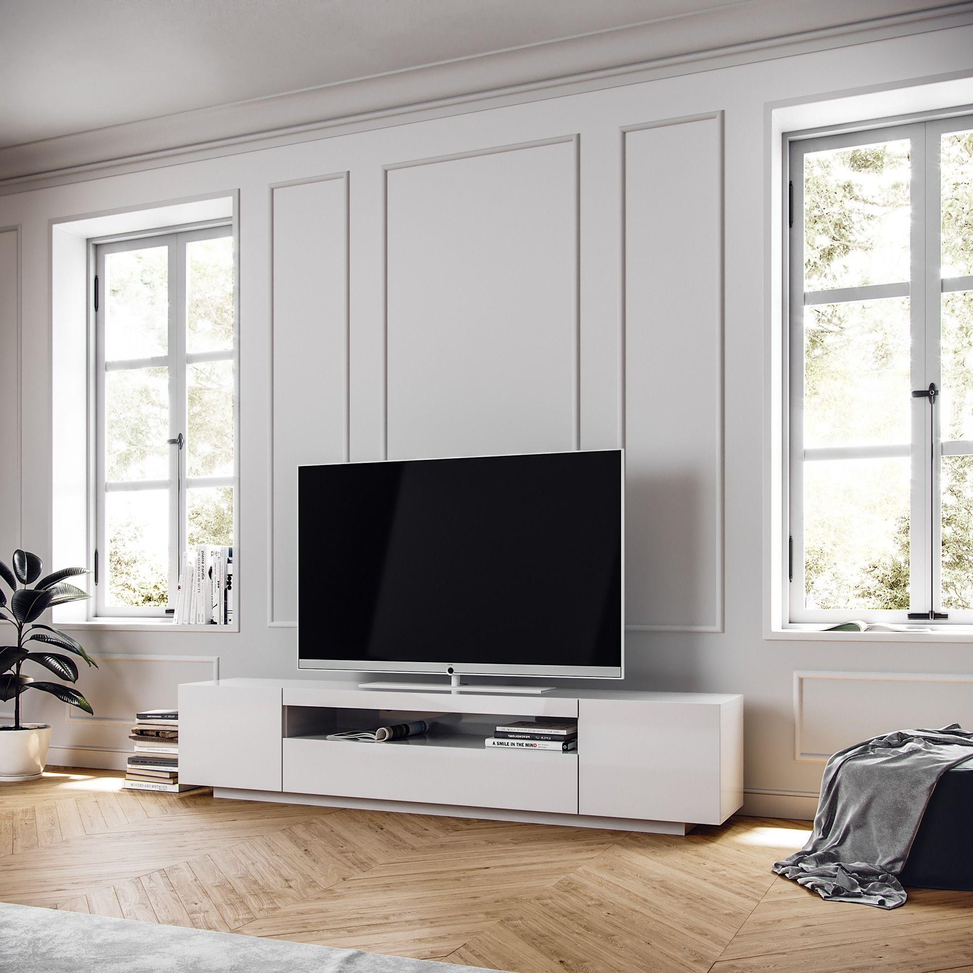 Samso Minimalist Tv Cabinet Modern Tv Cabinet Closed Storage Cabinets Loft Design