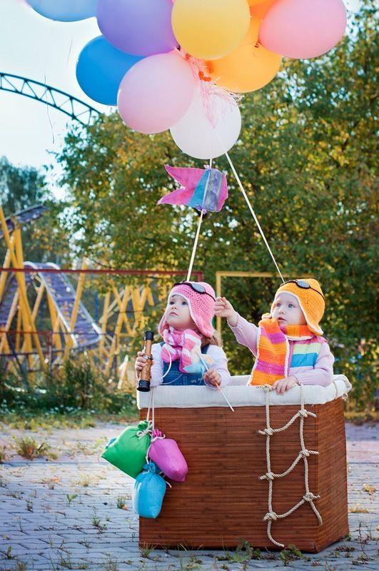 Воздушный шар и ребенок 33