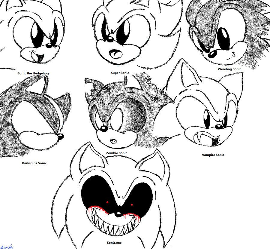 Darkspine Sonic Coloring Pages The Many Forms Of Sonic The