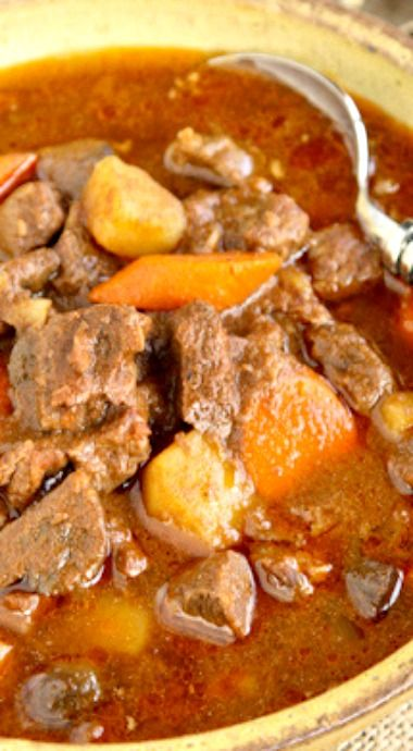Slow Cooker Hungarian Goulash Authentic Goulash Recipe Recipe Hungarian Recipes Goulash Slow Cooker Goulash Recipes