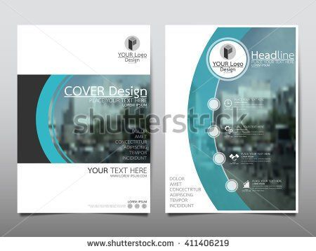 Blue curve technology annual report brochure flyer design template - free annual report templates