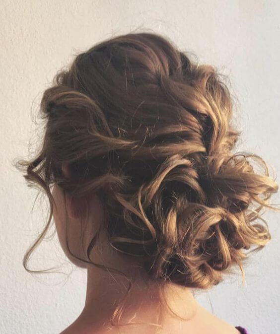 50 Chic Messy Bun Hairstyles Hair Styles Updos For Medium Length Hair Hairstyle