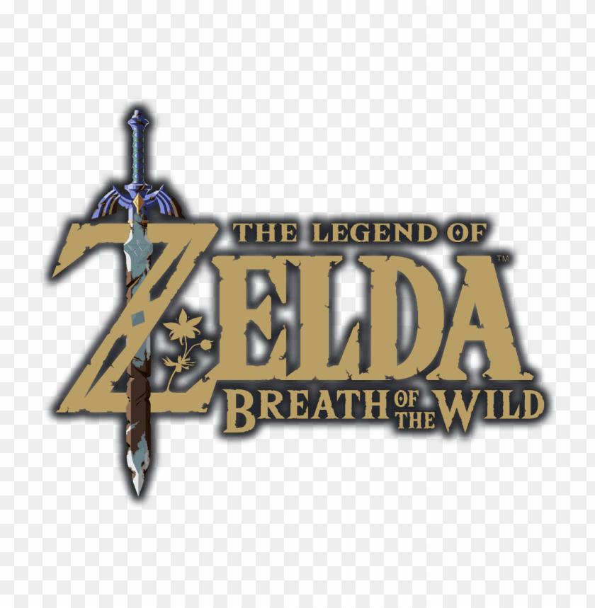 The Legend Of Zelda Breath Of The Wild Logo With Outline Zelda Breath Of The Wild Title Png Image With Transparent Background Png Free Png Images Legend Of Zelda