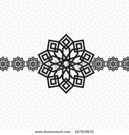 EID Mubarak Card arabic design black and white | arabic ...