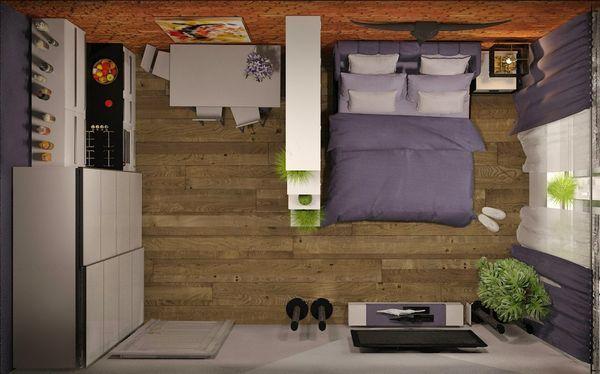 дизайн комнаты в общежитии 18 квм фото 1