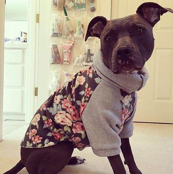 Custom Large Dog Sweater Pitbull Sweater Fleece Coat