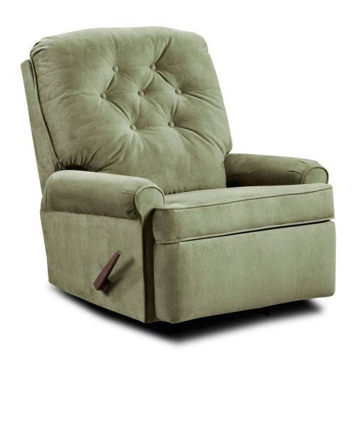 Green fabric recliners