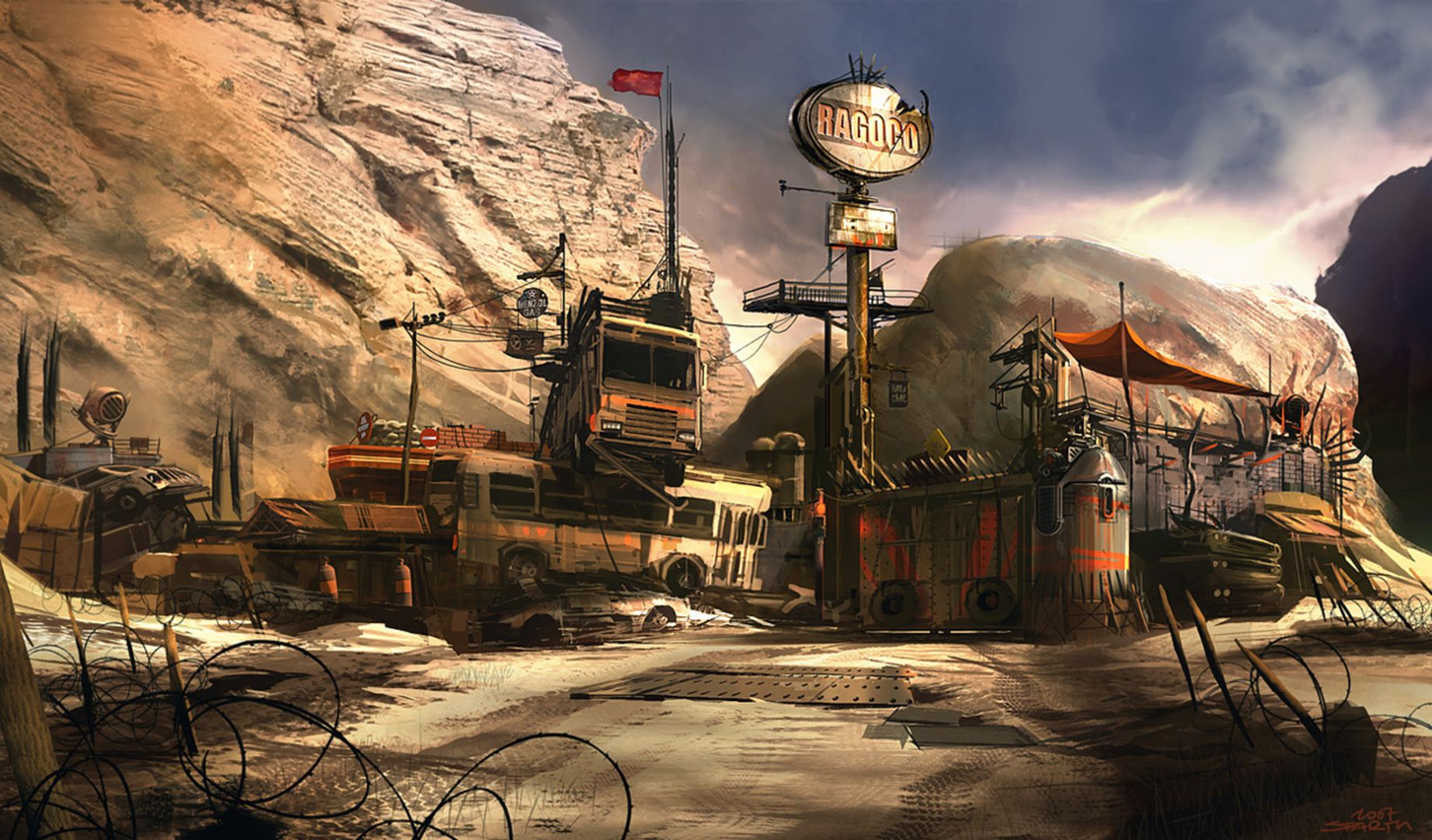 Sparth Nicolas Bouvier Rage outpost | Science Fiction Art in