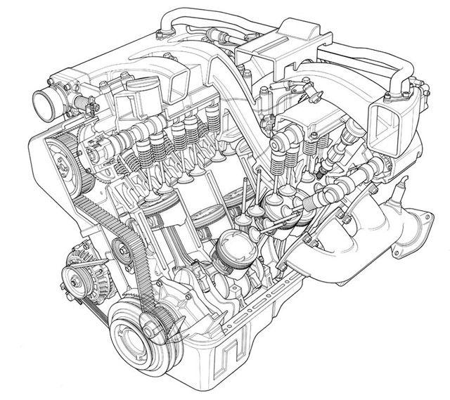 technical illustrations  line art