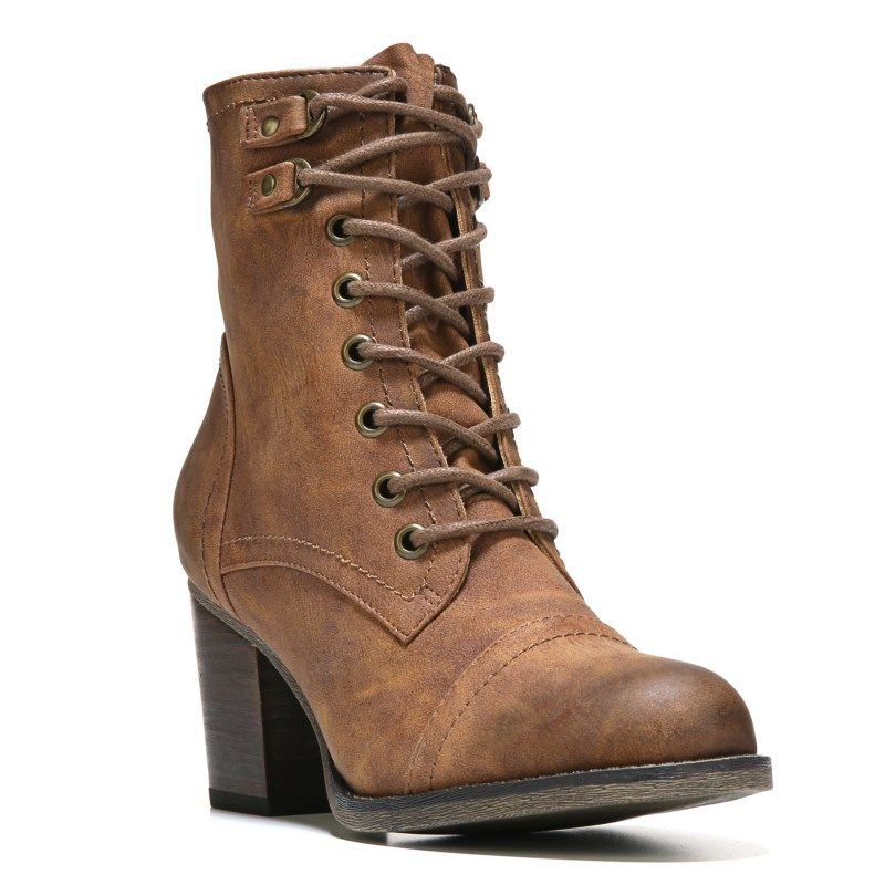 Madden Girl Women's Westmont Lace Up Boots (Cognac) - 10.0 M