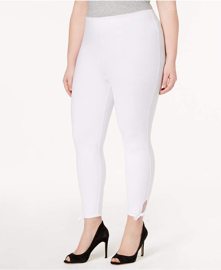 6bcc4ee216ab69 Women's Plus Size Side-Tie Cropped Leggings | Products | Plus size ...