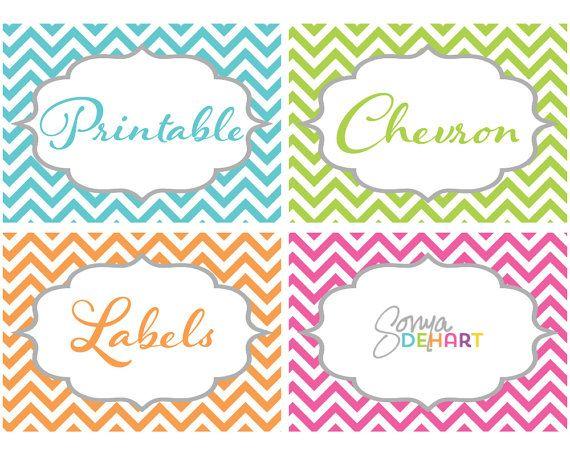 chevron label template
