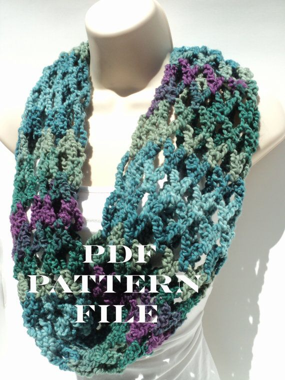 Free Pattern First Love Crochet Net Cowl Infinity Scarf Head