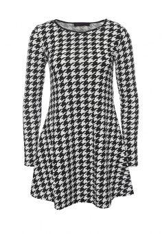 Платье, Edge Street, цвет: черно-белый. Артикул: ED008EWQBZ59. Женская одежда / Платья и сарафаны
