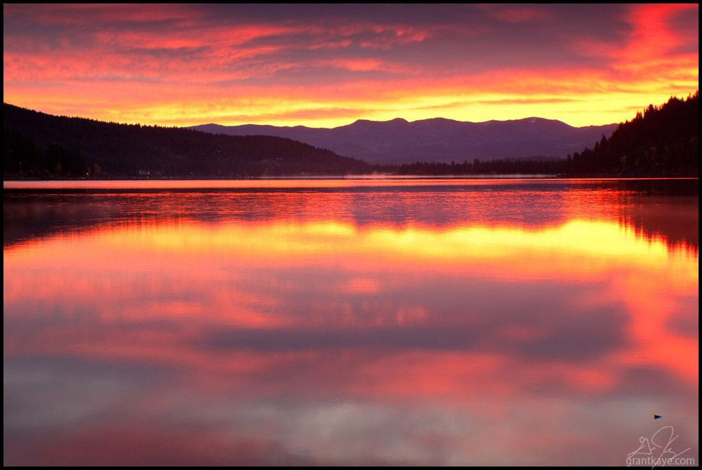 Visit Truckee and wake up early enough for the sunrise during your travel. The colors reflecting off of Donner Lake are unreal. Fiery Sunrise, Donner Lake. Via Grant Kaye flickr www.truckee.com