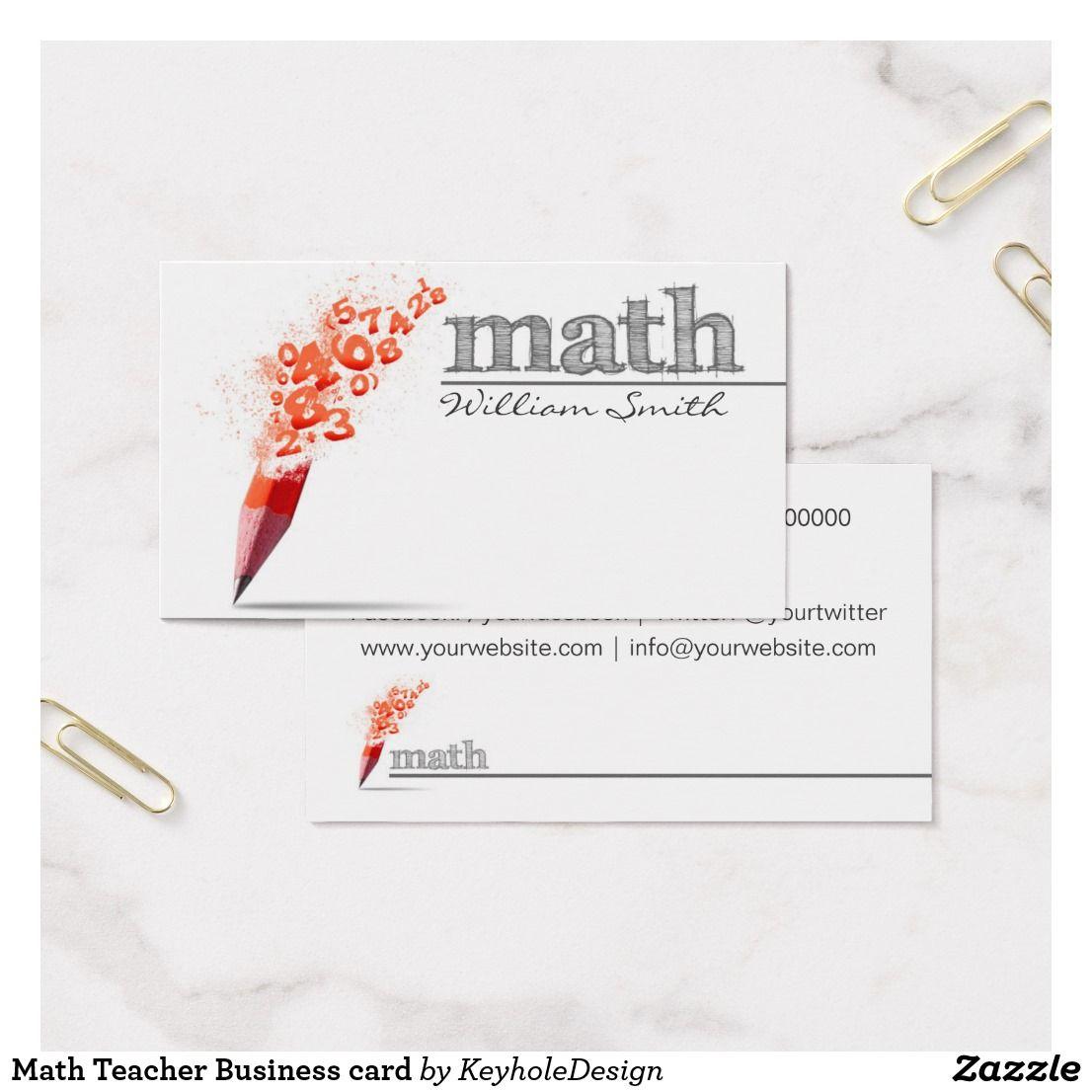 Math teacher business card office supplies pinterest teacher math teacher business card magicingreecefo Gallery