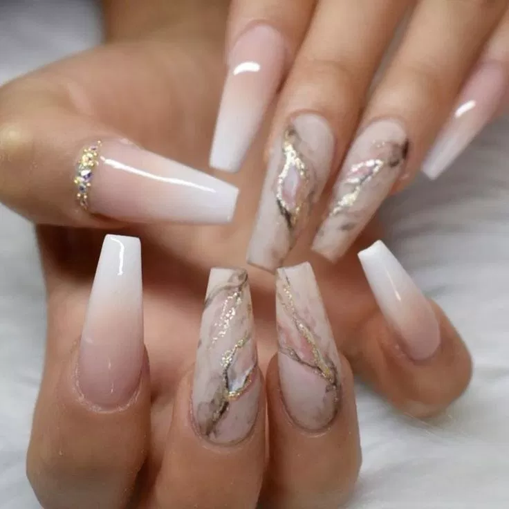65 Best Coffin Nail Gel Nail Designs For Summer 2019 34 Welcome Coffin Nails Long Cute Acrylic Nails Pretty Acrylic Nails