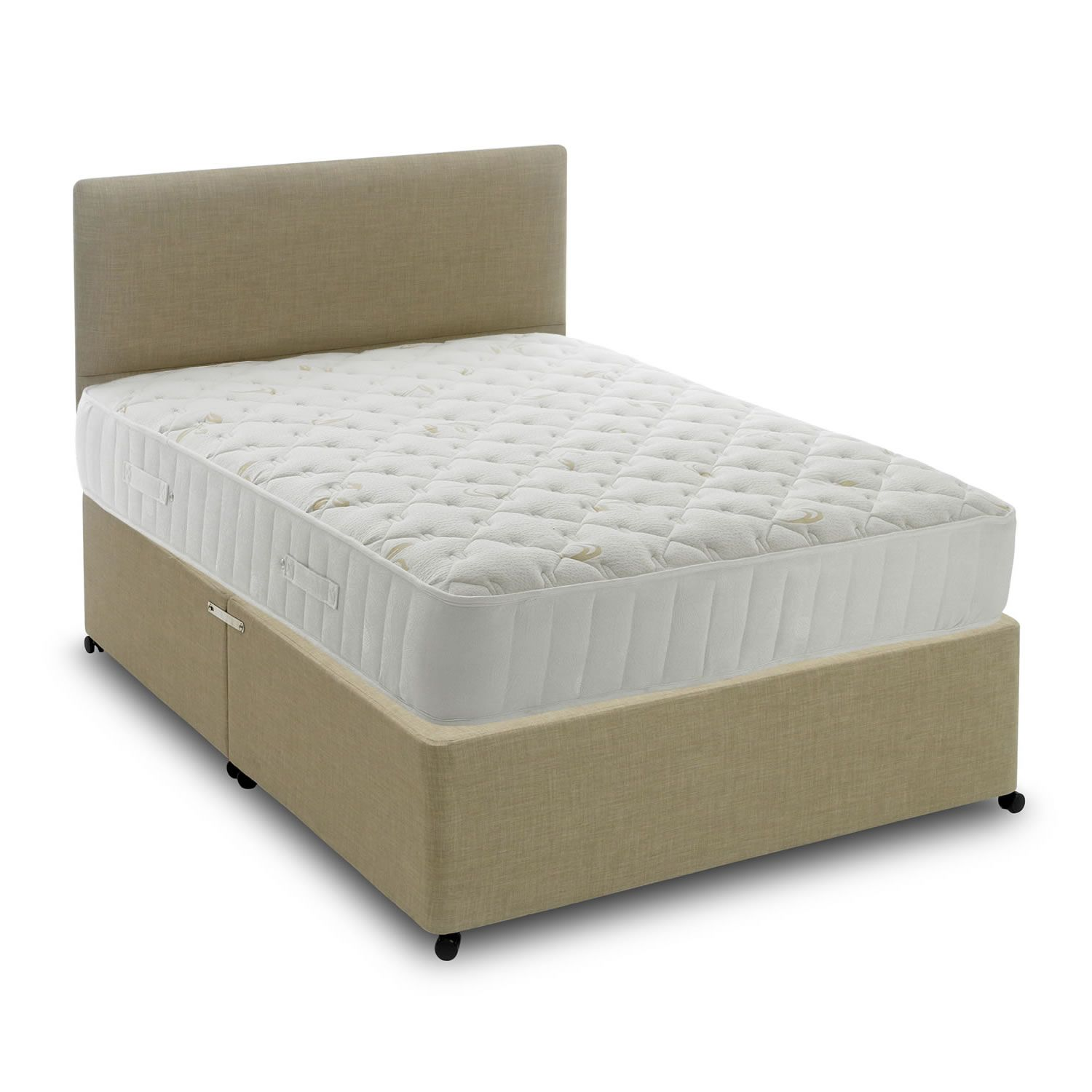 Divan Beds Cheap Ultimate Ortho 1400 Pocket Set Linen 2 Drawers King Beds