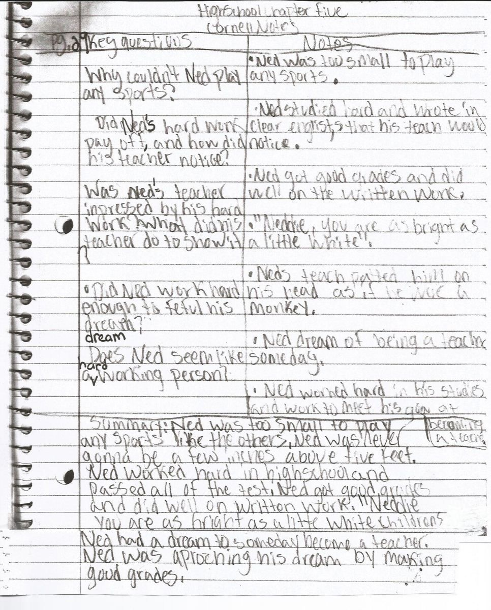 Student Examples of Cornell Notes: Paulding County School District ...