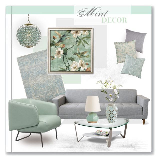 Mint Gray Decor By C Silla Liked On Polyvore Featuring Interior
