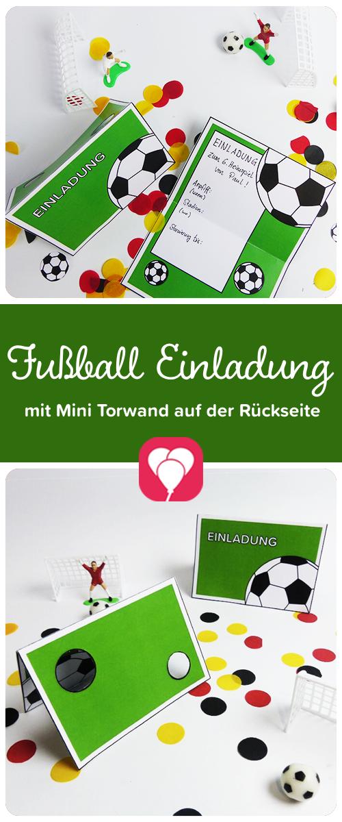Bastelanleitung Einladungskarte Fussball 4