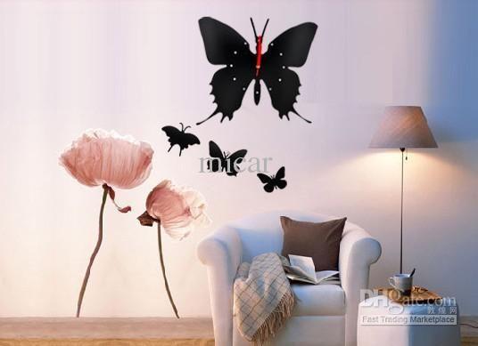 the butterfly clock to house Decals·Vinyl Pinterest Clocks - schöne wanduhren wohnzimmer