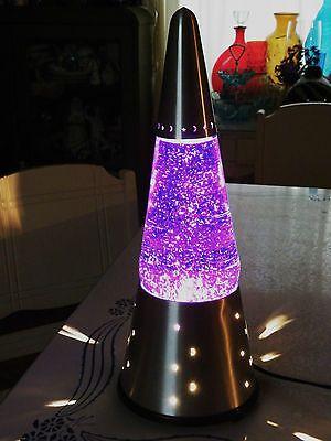 The Wizard Vintage Lava Lite Glitter Lamp Purple Silver Base Glitter Lamp Lamp Novelty Lamp