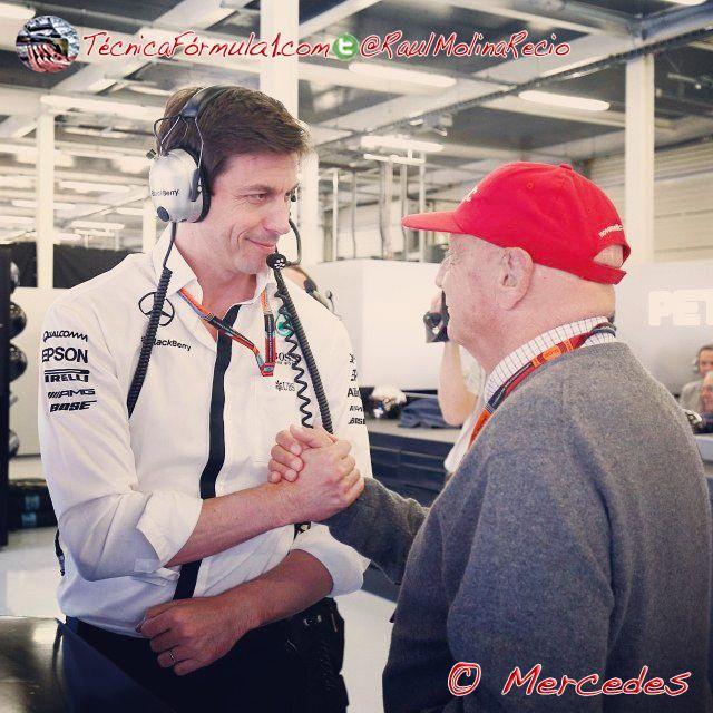 """Lauda: """"Quien dijera que la F1 es aburrida ha quedado como un estúpido""""  #F1 #Formula1 #HungarianGP"""