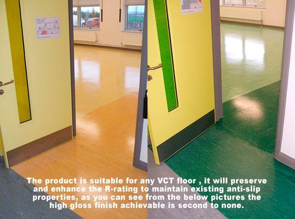 Nano Power Shine Never Again Wax And Strip Your Vct Floors Concrete Floors Flooring High Gloss Finish