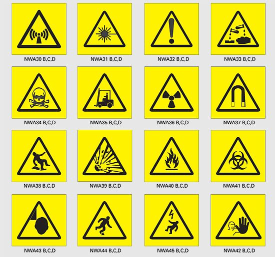 Health And Safety Signs And Symbols Science Safety Symbols And
