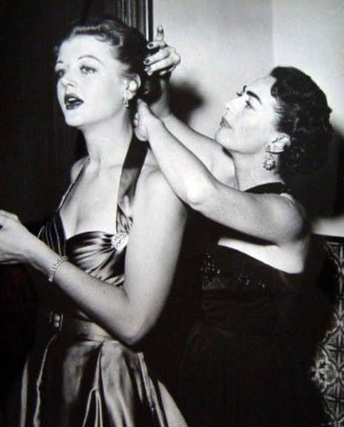 Fascinating pairing here. Angela Lansbury, Joan Crawford. We they friends