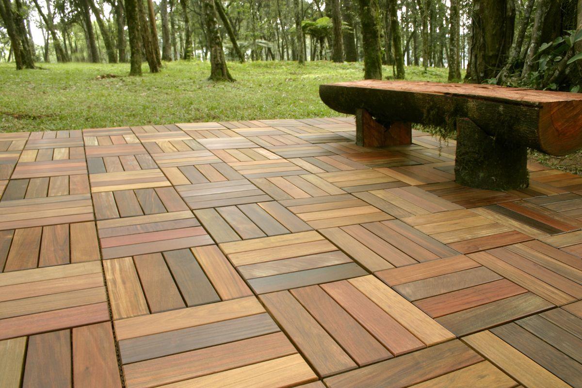 Tile Patio Floor Flooring Deck Timber Tiles Wood