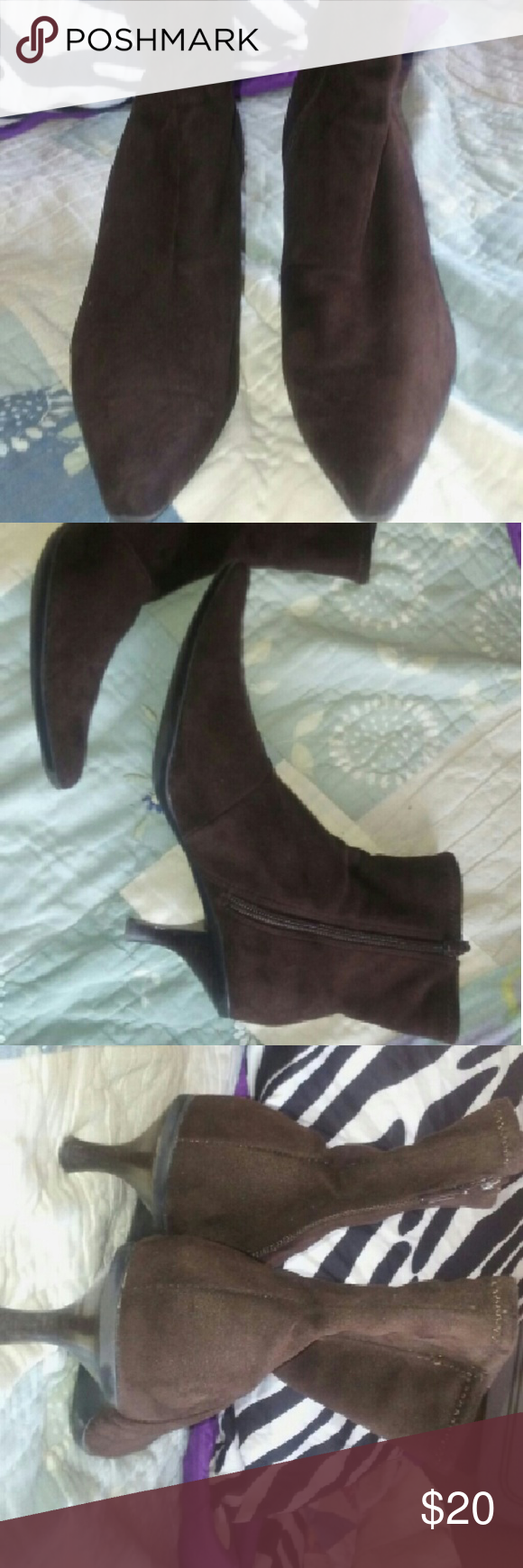 NEW NORDSTROM BROWN SUEDE ANKLE BOOTS 6 1/2 LIKE NEW SUPER CUTE BROWN SUEDE NORDSTROM ANKLE BOOTS ZIP UP THE INSIDE. SIZE 6 1/2. FEEL FREE TO MAKE AN OFFER. I REALIZE THAT TIMES ARE TIGHT SOMETIMES AND WE ALL COULD USE A BREAK OCCASIONALLY ?? Nordstrom Shoes Ankle Boots & Booties