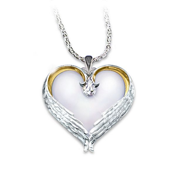 Forever in my heart sterling silver pendant silver pendants angel forever in my heart sterling silver pendant heart is the angels aloadofball Choice Image