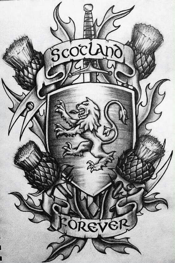 Cool Scottish Tattoo Design Scottish Pinte