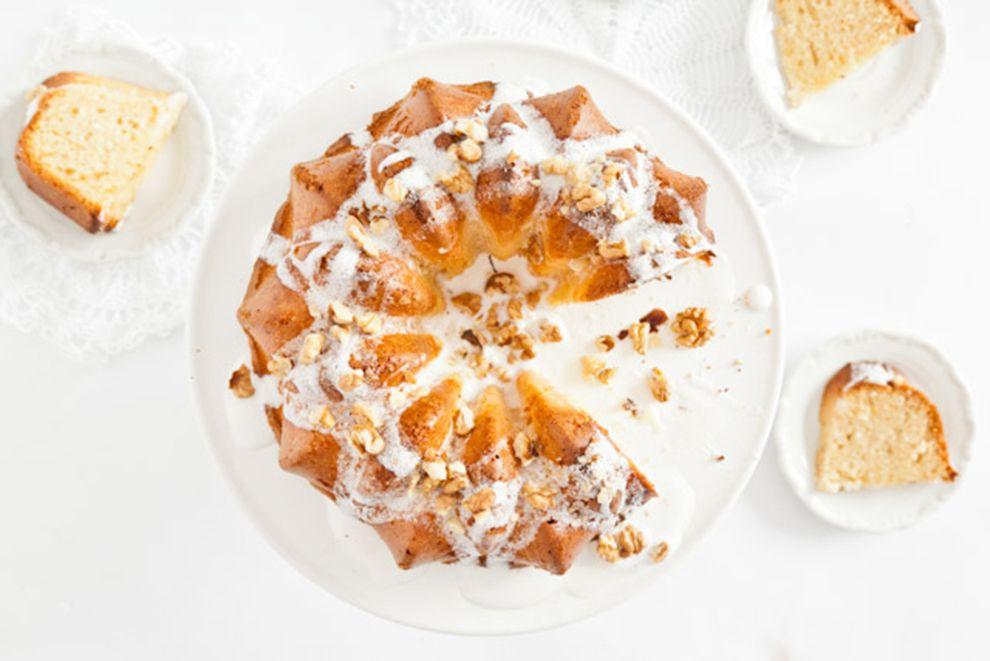 Milk Bundt Cake with Walnuts | Bundt cake, Ingredients ...