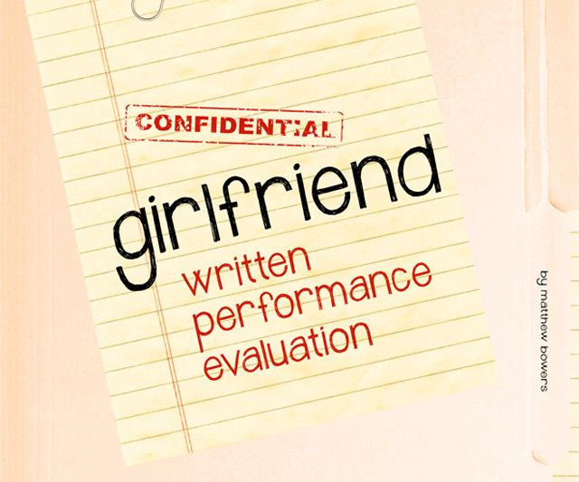 Girlfriend Written Performance Evaluation Girlfriends - performance evaluation