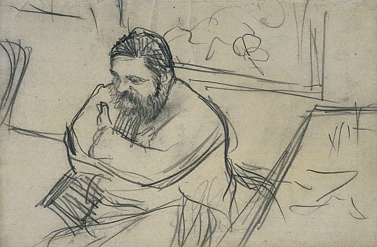 Line Drawing Artists Names : Edgar degas art sketch and artists