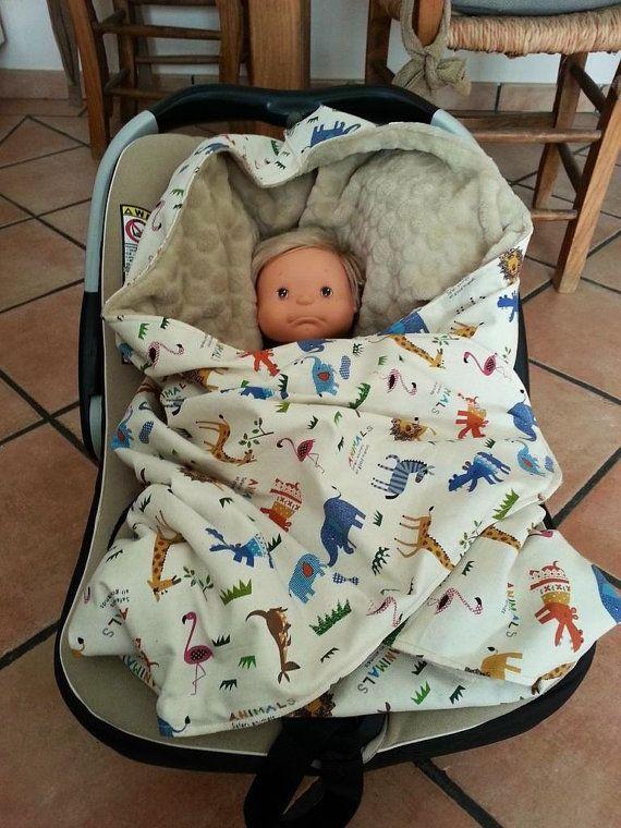 Manta bebe adaptable Maxicosi por KikiyaLab en Etsy