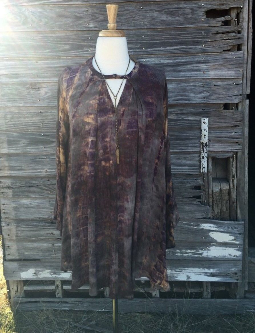 Honey Mix Tie Dye A Line Tunic PSWG0294