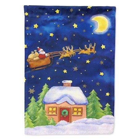 Christmas Santa Claus Across the Sky Garden Flag - Walmart.com
