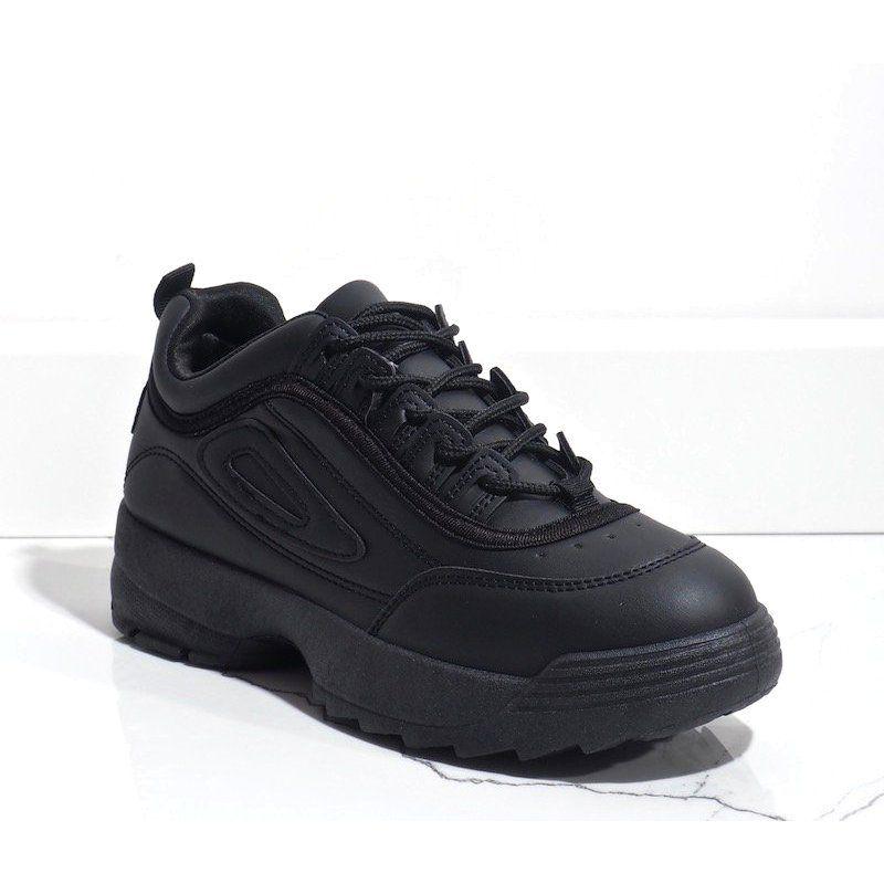 Czarne Obuwie Sportowe Sneakersy D1909 2 All Black Sneakers Sneakers Shoes