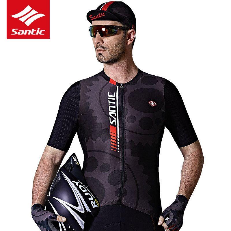 Santic Summer Cycling Jersey Men MTB Road Bike Bicycle Jersey Shirt Short Sleeve  Anti-sweat Downhill Racing Skinsuit Clothing  Affiliate d1db44812