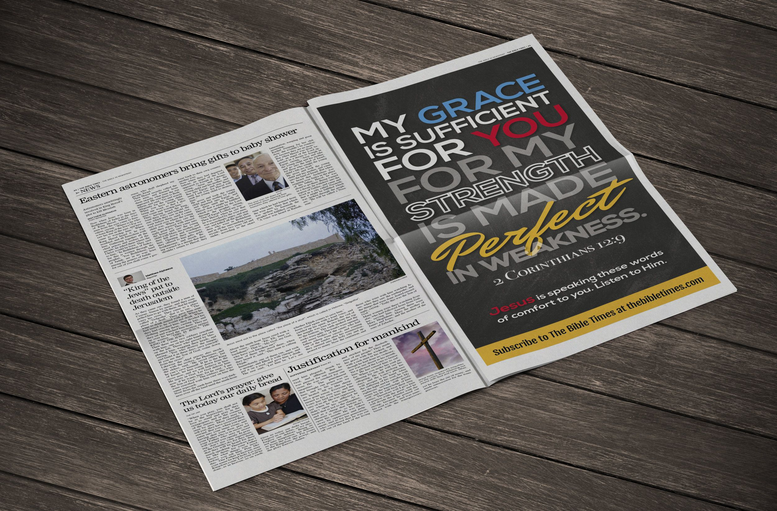 12 Page Newspaper Template Adobe InDesign (12x22 inch)