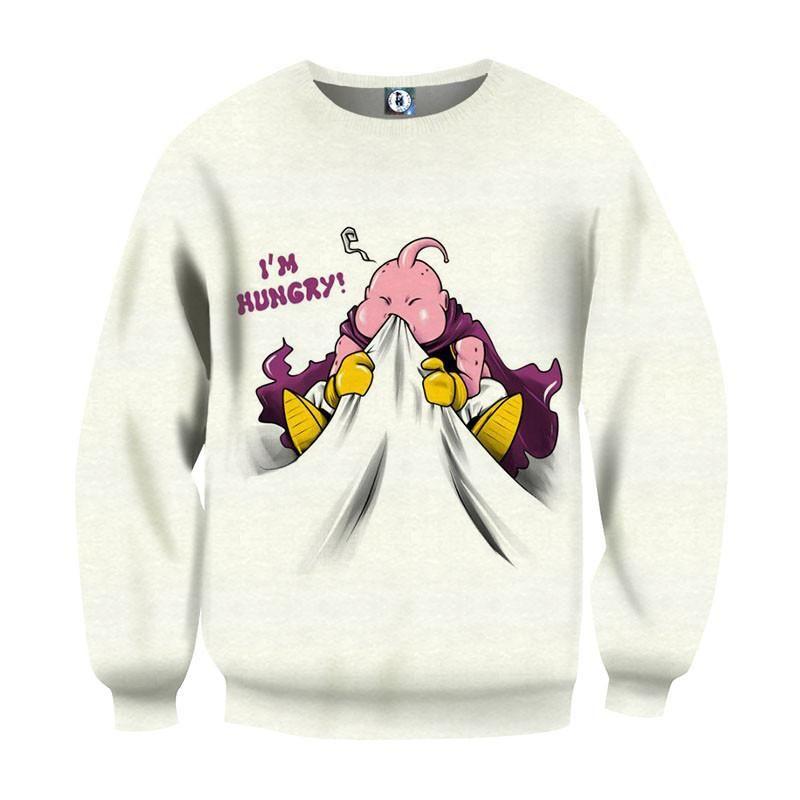 58f3f667f6d DBZ Majin Buu Hungry Chubby Funny Chibi Character Sweatshirt  DBZ  MajinBuu   HungryChubbyFunny  ChibiCharacterSweatshirt