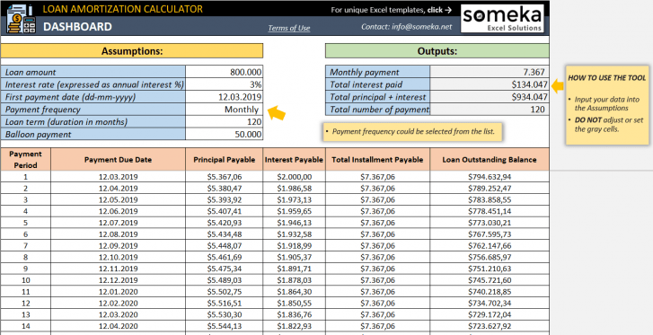 Loan Amortization Calculator Excel Amortization Schedule In 2020 Amortization Schedule Excel Loan